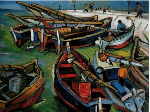 Irma Stern, Fishing Boats, 1931