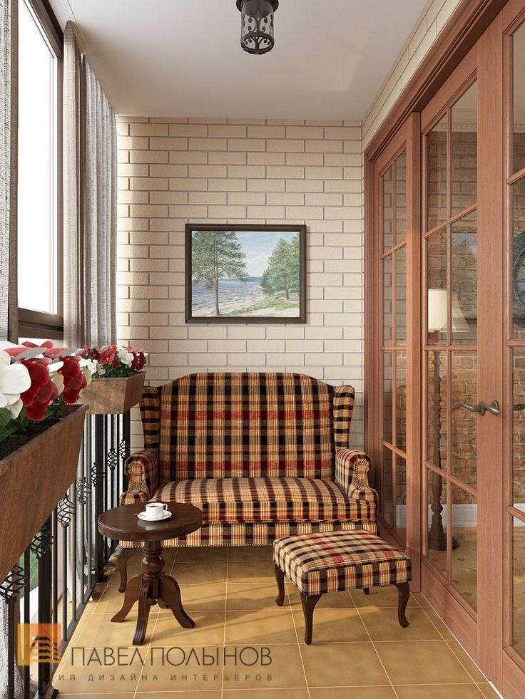 Фото: Интерьер лоджии - Дизайн трехкомнатной квартиры в ЖК «Академ-Парк», 83 кв.м.