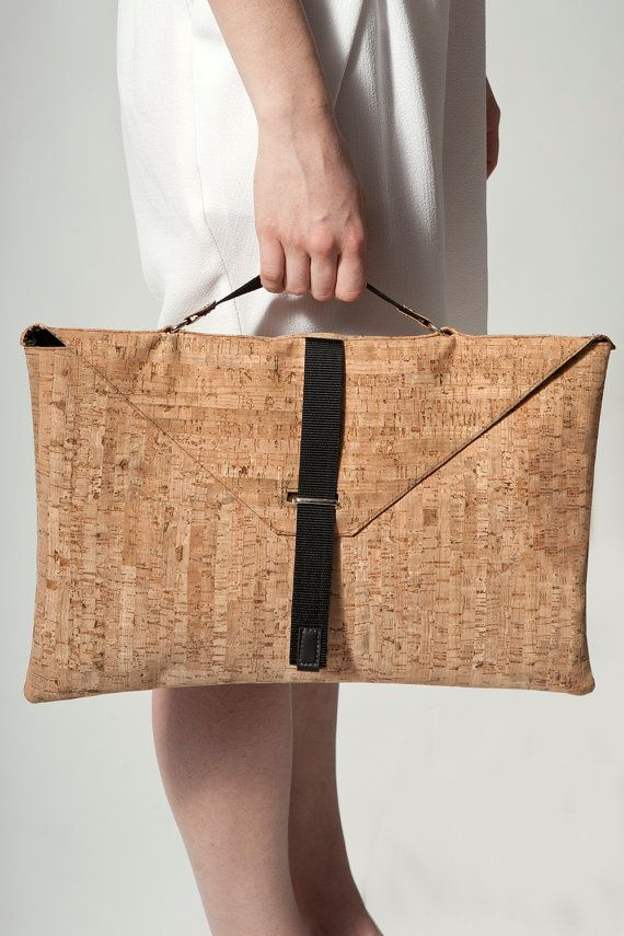 Handmade bag made of cork leather featuring by ValleyClothes