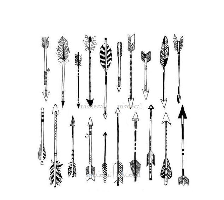 Classroom Design Arrow Or X ~ Temporary tattoo set of arrows vector art knuckle