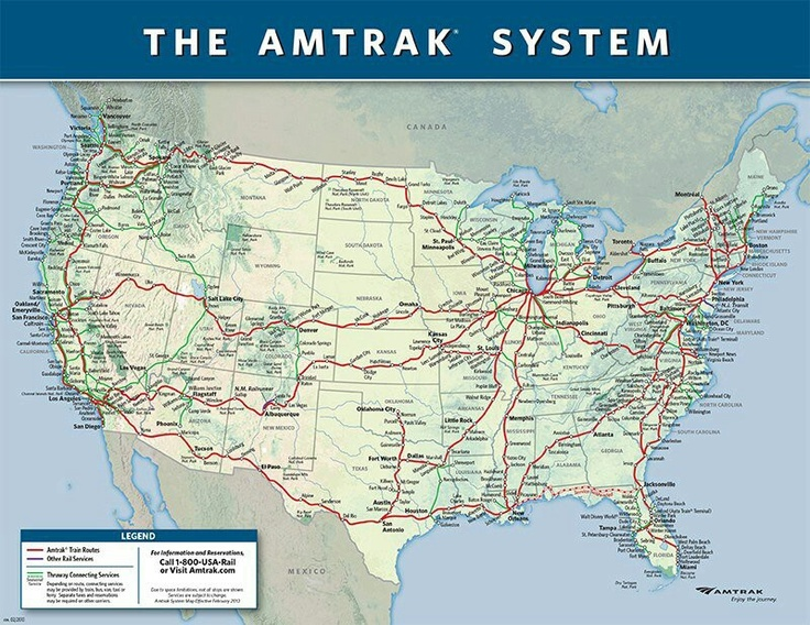 where would you take amtrack