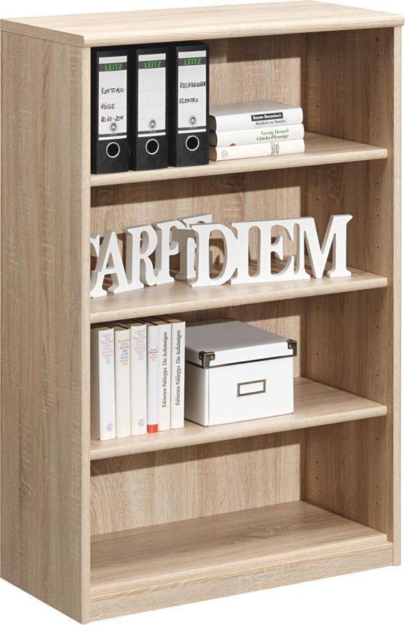 Dieses praktische Regal (B x H x T: ca. 72 x 110 x 36 cm) in Eiche-Nachbildung mit sägerauer Oberfläche wird Ihr Zuhause funktional ergänzen. 3 verstellbare Einlegeböden garantieren Ihnen die optimale Lagerung Ihrer Bücher, Akten und Accessoires. Ob Wohnzimmer, Schlafzimmer oder Arbeitszimmer - diese Kommode macht sich in jedem Raum gut!