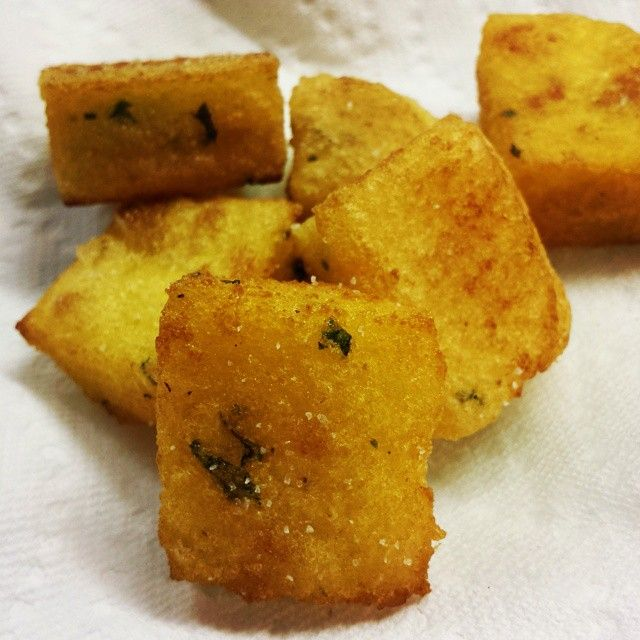 "My Portuguese Kitchen: Milho Frito ""Fried Cornmeal"""