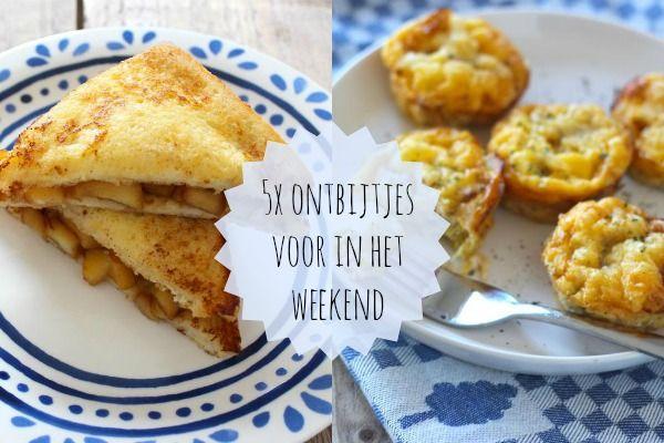 We hebben vijf lekkere en simpele ontbijtrecepten voor in het weekend voor jullie op een rijtje gezet. Alle recepten zijn simpel (en snel) te bereiden!