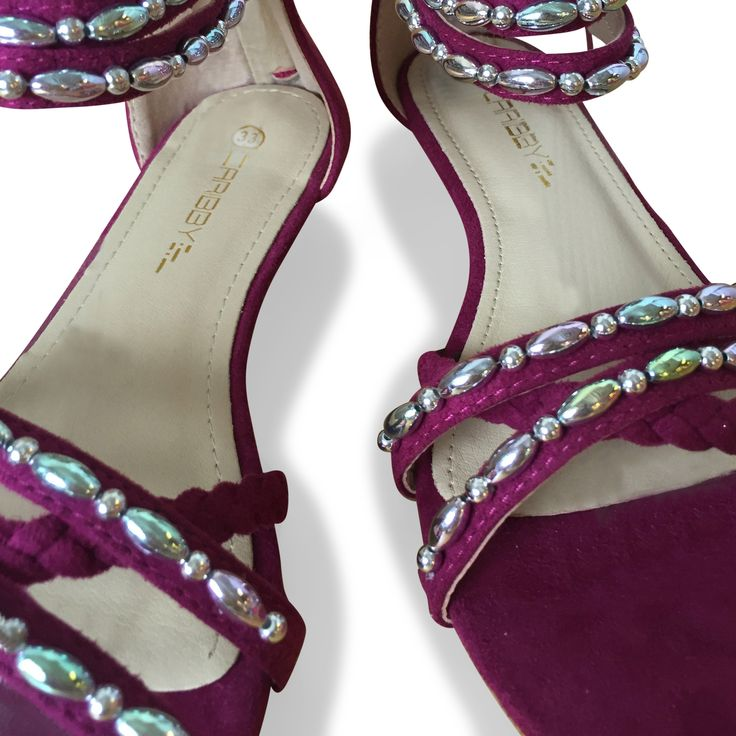"""DAY"" in lovely purple. www.caribbyshoes.com"