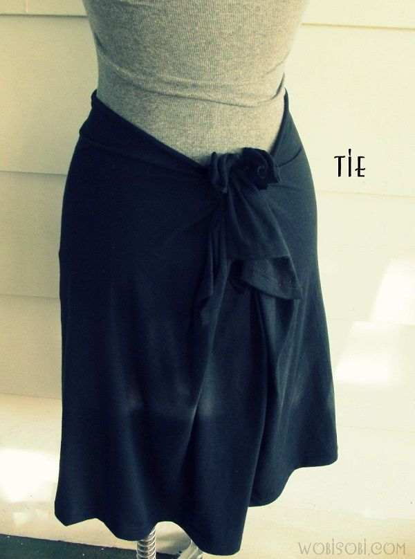 WobiSobi: No Sew, T-Shirt Skirt: DIY  http://wobisobi.blogspot.com/2013/07/no-sew-t-shirt-skirt-diy.html