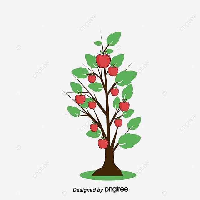 ناقلات الكرتون شجرة التفاح رسوم متحركة شجرة كرتون شجرة التفاح Png وملف Psd للتحميل مجانا Tree Vector Png Palm Tree Vector Drawing Apple