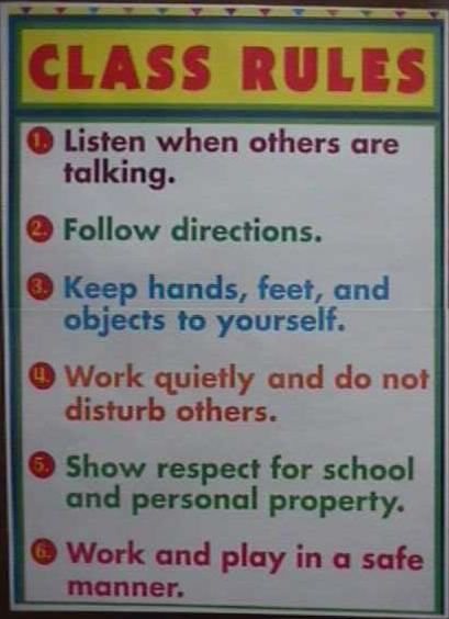 Elementary Classroom Rules ~ Elementary classroom management rules in the