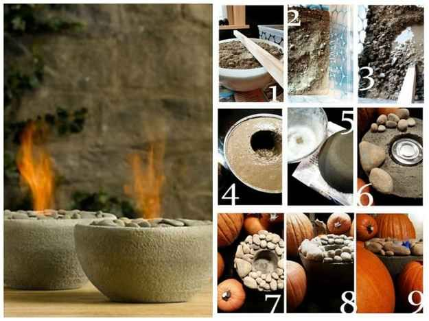 Concrete Fire Bowls | 22 Seriously Cool Cement Projects You Can Make At Home