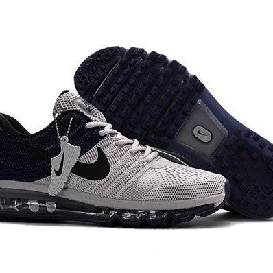 Nike Air Max 2017 Men Black Grey Running Shoes #womenrunningshoes