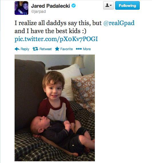 OMG AWWWW - Jared's Tweet 1/27/2014