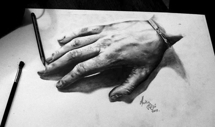 Pencil art turn on the light drawing pencil drawings for Amazing hand drawings