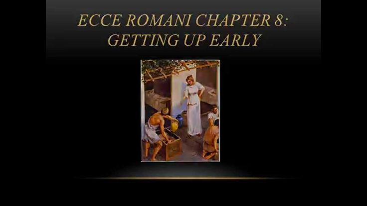 Ecce Romani Chapter 8 Overview