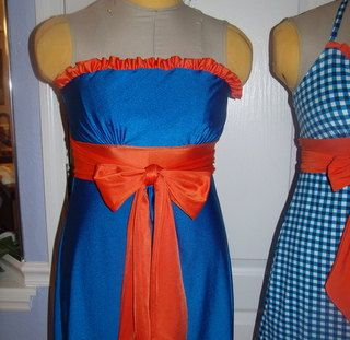 game day dress  Gator Game Day Dress UF Little Miss Huddle Up by TrueColorsCouture, $80.00
