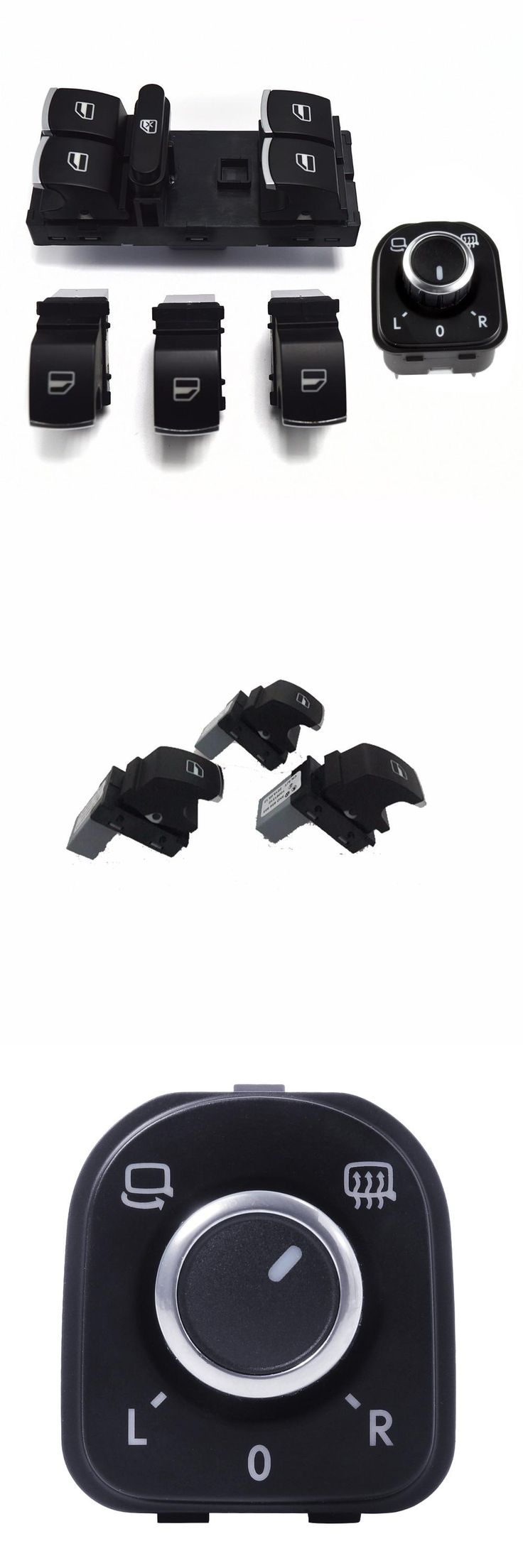 visit to buy 5pcs oem chrome main control electric switch folded mirror switch