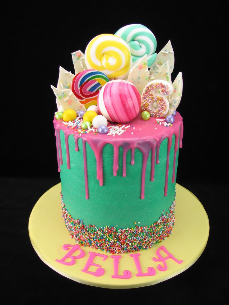 Chocolate Drip Cake Meringue