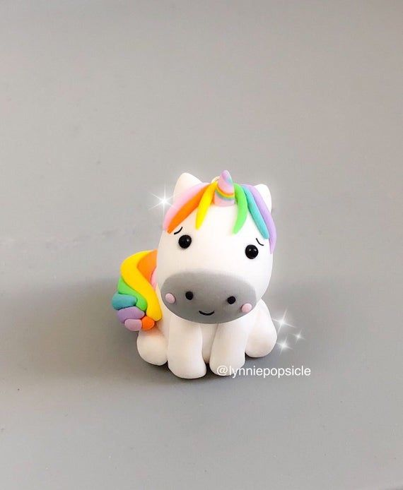 Unicorn Gifts for Girls Polymer Clay Ornaments Flower Crowns Unicorn Ornaments Unicorn Flowers
