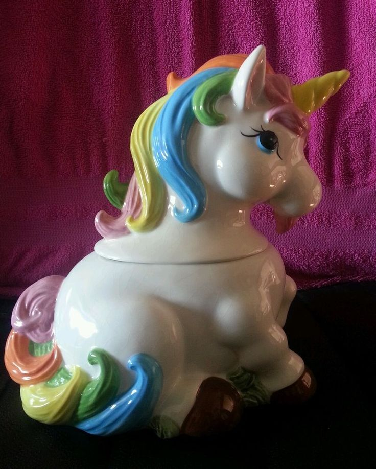 Colorful Unicorn Cookie Jar