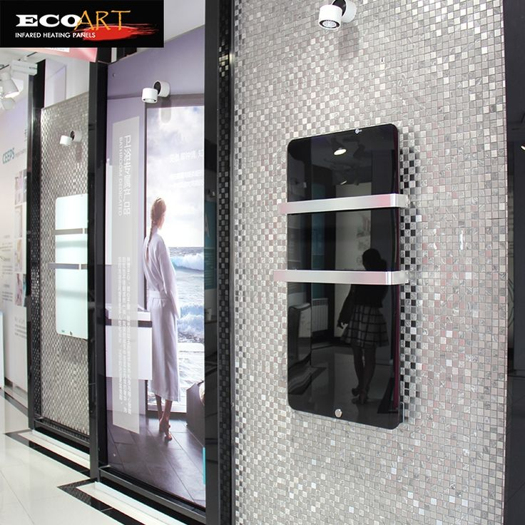 609.00$  Watch now - http://aliv0c.worldwells.pw/go.php?t=32708903322 - Eco Art 600W Bathroom Vertical Flat Panel Radiators with Wireless Thermostat 609.00$