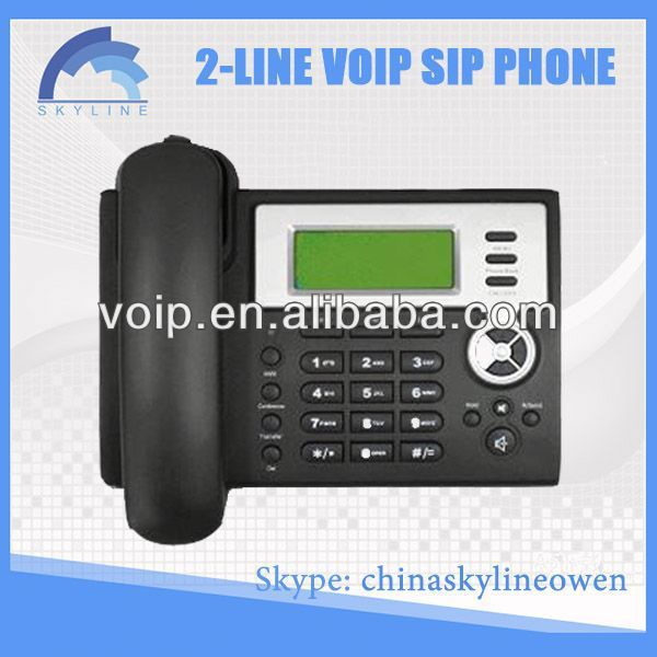 voip phone adapter skype 2 line voip phone/best IP PHONE/voip telephony