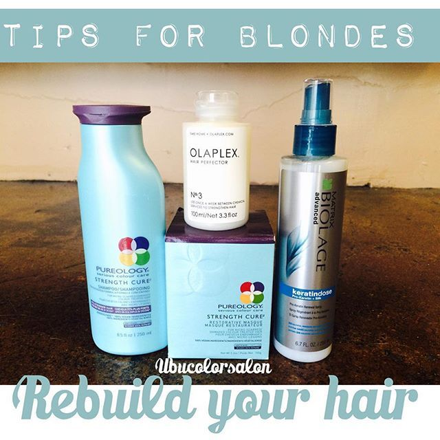 Strength shampoo, Strength mask, Olaplex, keratin dose. Best tips for blonde or…