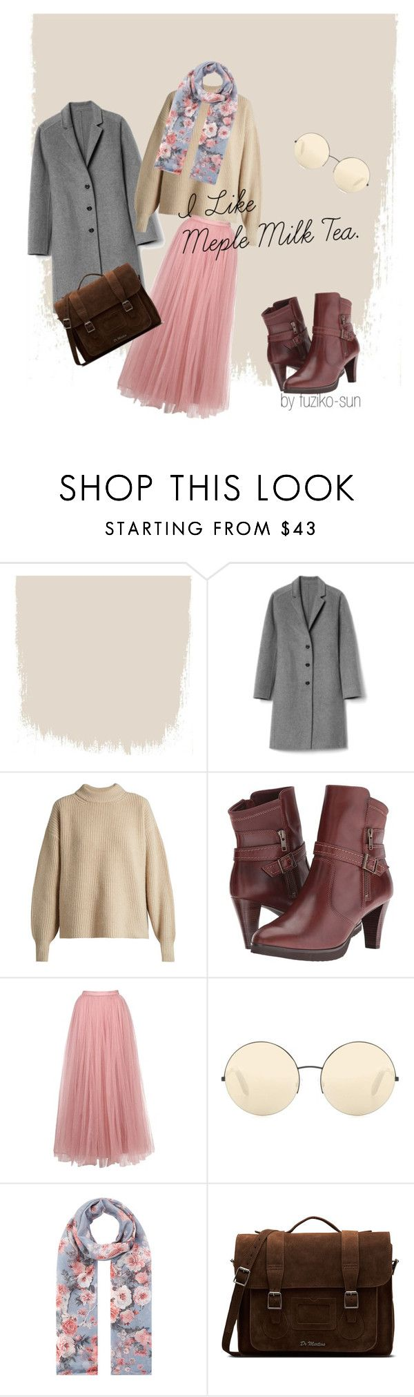 """""""book store girl"""" by fuziko-sun ❤ liked on Polyvore featuring Gap, The Row, Walking Cradles, Little Mistress, Victoria Beckham, Accessorize and Dr. Martens"""