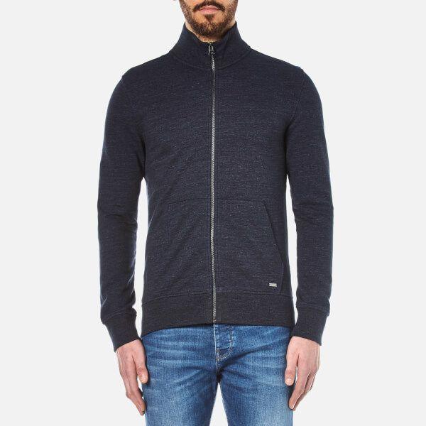 BOSS Orange Men's Zpandau Knitted Jacket Dark Blue Men's fashion and style