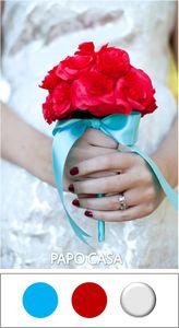 casamento azul e vermelho