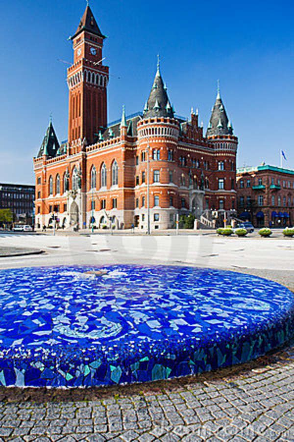 Helsingborg Town Hall, one of the most magnificent Town Halls in Sweden  (© Antoine Beyeler on Dreamstime.com)