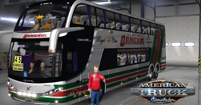 American Truck Simulator Comil DD 62 V5 Mod Bus Download MODs
