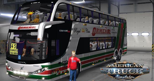 American Truck Simulator Comil DD 62 V5 Mod Bus Download MODs