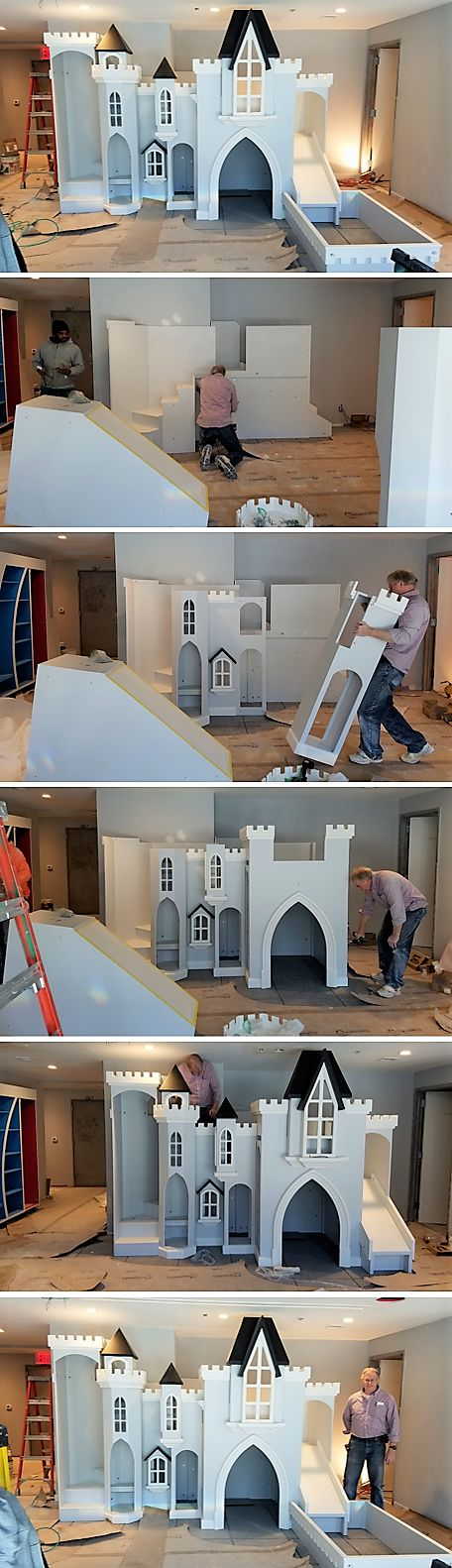 Check out this custom castle playhouse, built for Sky View Parc in New York City. If you've been looking for a playhouse for your office or business, click here to learn what we can make for you!