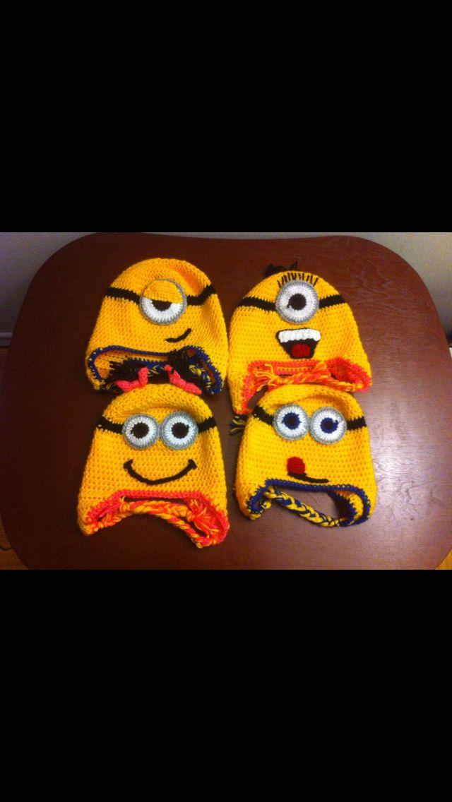 Crochet minion hats