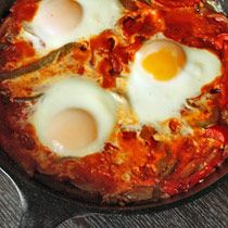 Tasty n Sons' John Gorham re-creates an Israeli classic. This is a different take on Shakshuka. I like the idea of baking the eggs instead of trying to poach them in the sauce.