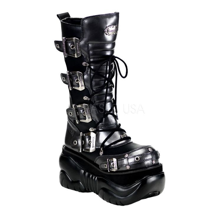 pretty nice pretty nice good texture Boxer Padded Front Unisex Platform Boot by Demonia by Pleaser USA ...