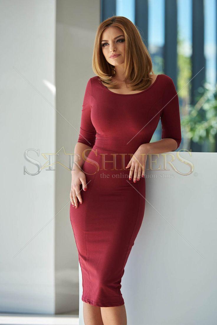 Artista Simple Whisper Burgundy Dress