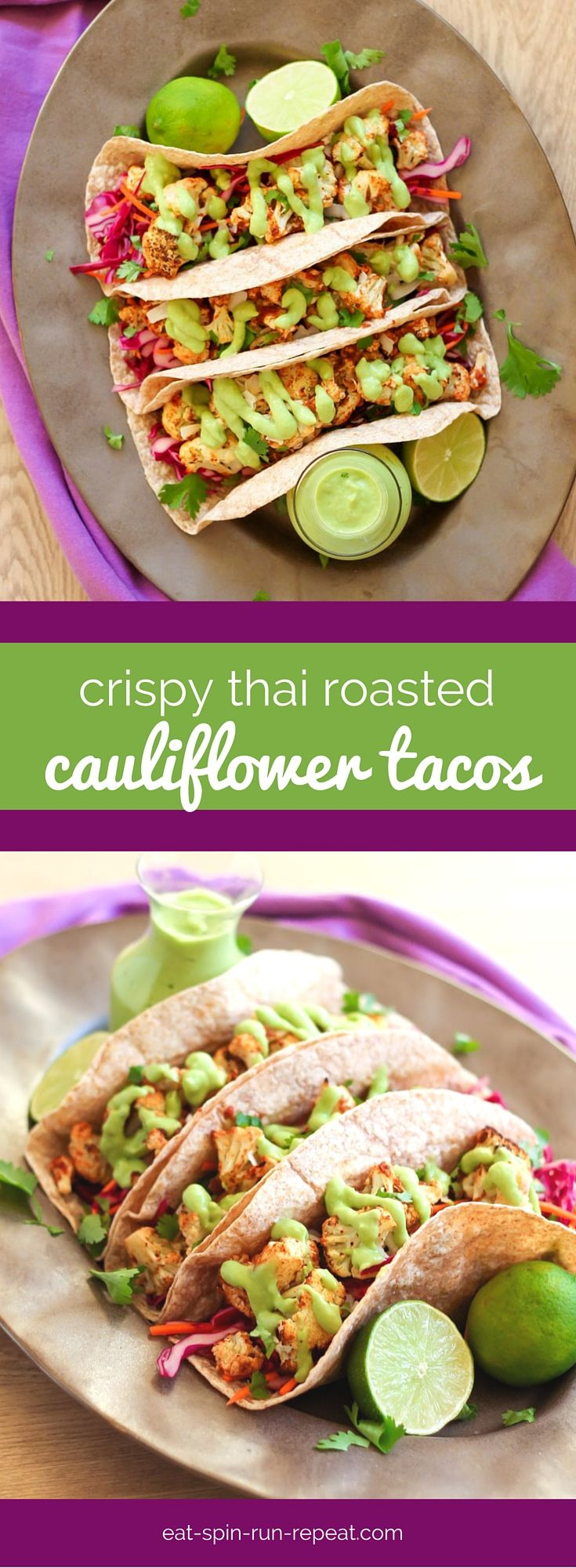 There's no doubt that cauliflower is having a moment, and it's the star of the show in these delicious vegan Crispy Thai Roasted Cauliflower Tacos!