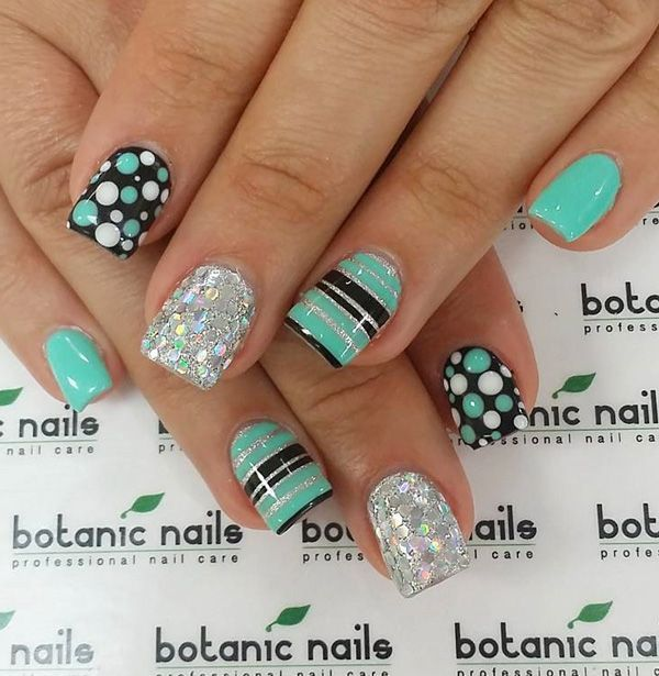 Nail Design Ideas 50 festive christmas nail art ideas 50 Lovely Spring Nail Art Ideas