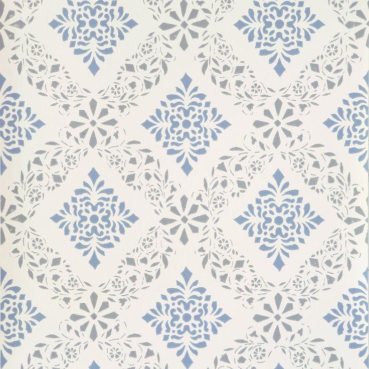 DELLEN Tillverkad enligt förlaga från 1800–talets schablonmåleri från Hälsingland, Gammelsvenska tapeter/Duro.24 förslag till dig som går i tapettankar — Hem & Antik
