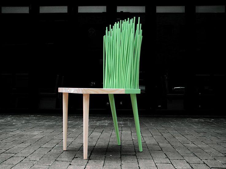 Furniture design by ODA Studio. Chair, cool, modern, piece, green.