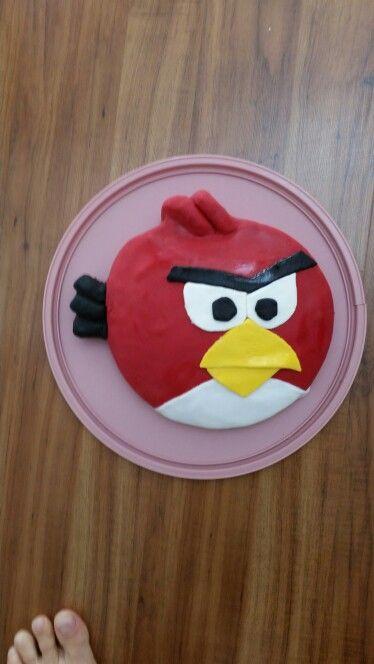 2. Oscar's 6th - angry bird cake