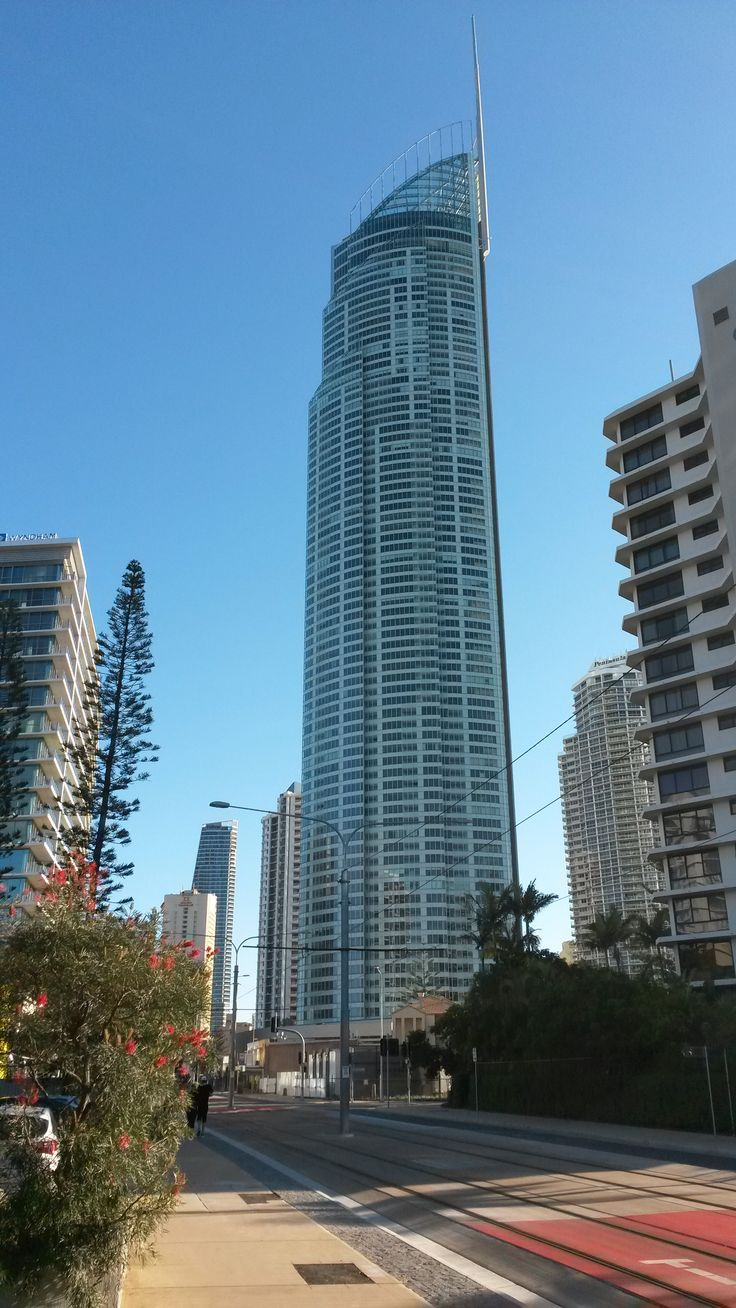 Q1 , looking north from cnr Enderley Ave & Surfers Paradise Blvd