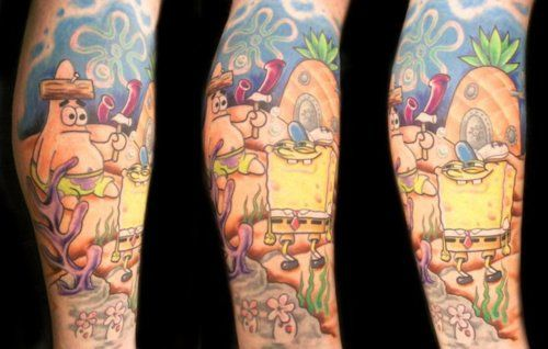 16 best images about awesome spongebob tattoos on pinterest for Twisted tattoo chicago
