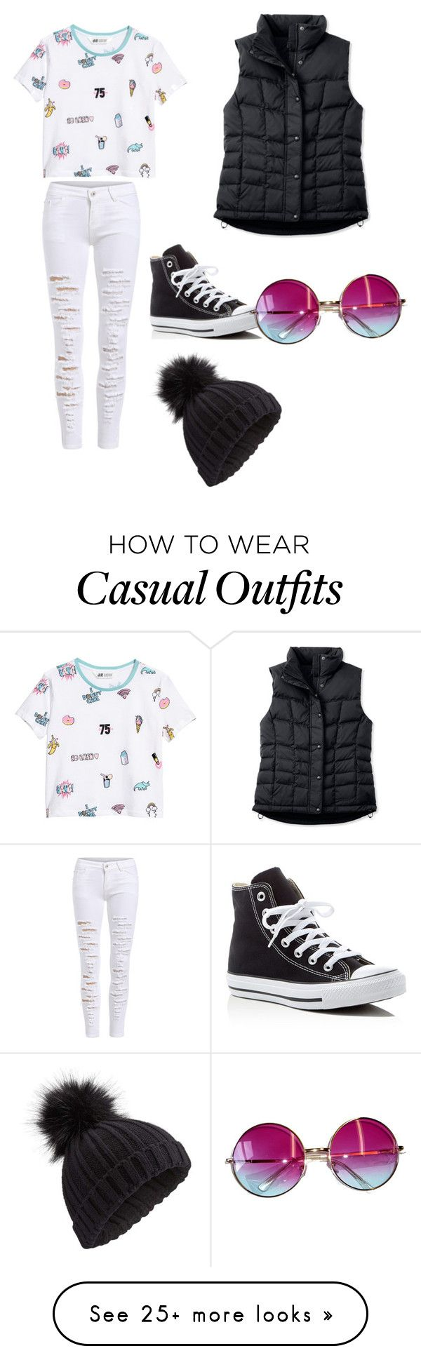 """""""casual wear"""" by yelly4035 on Polyvore featuring L.L.Bean, Converse, Janis and Miss Selfridge"""