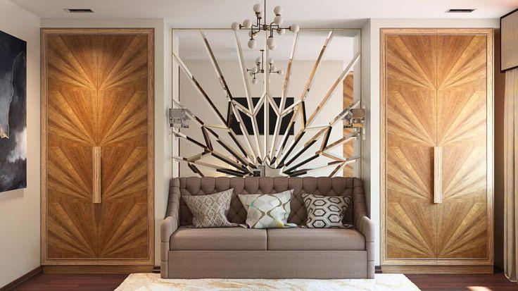 """55 curtidas, 3 comentários - Home Emotions Design (@home_emotions_design) no Instagram: """"Гостевая комната) большие шкафы для хранения могут быть красивыми #шкаф #дизайн #интерьер…"""""""