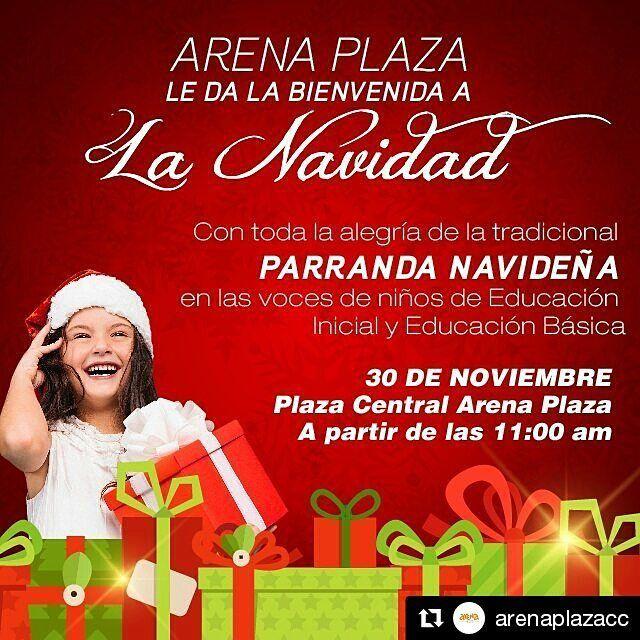#Repost @arenaplazacc with @repostapp  Visíta nuestras instalaciones este miércoles 30 de Nov. y disfruta la Tradicional Parranda Navideña Ven a compartir y vivir la #NavidadArena en Familia!  #Familia #Diversion #CentroComercial #Barquisimeto #Lara #ParrandaNavideña