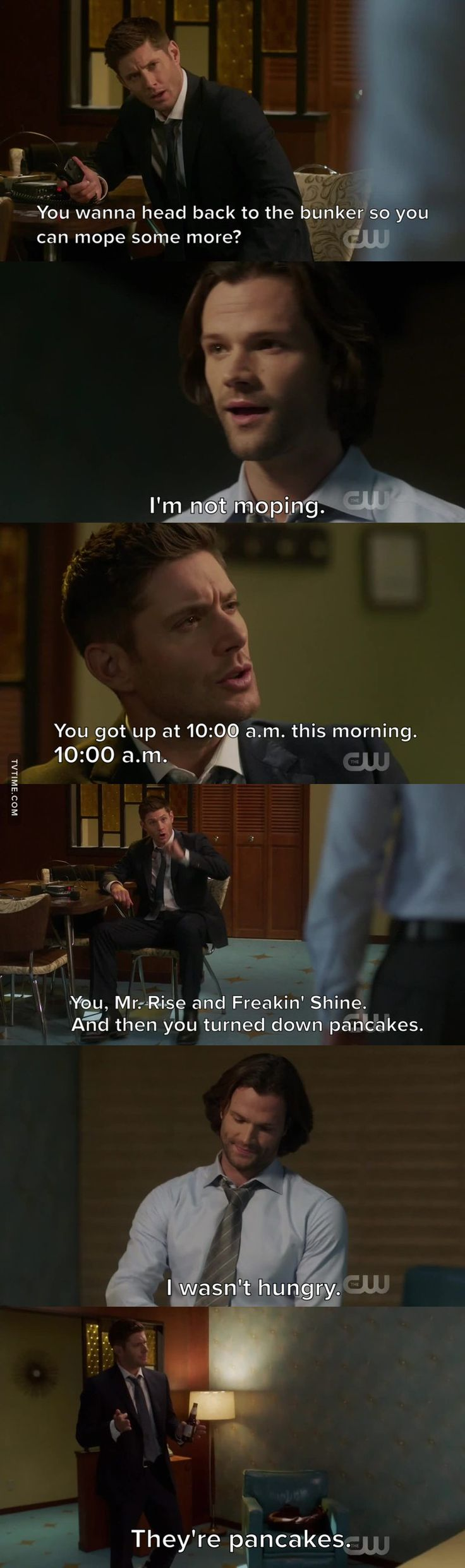 'Sammy don't mope 13x11' Okay but really the first minute of this episode, I and so many others related so much to Sammy's struggle. The endless nights becoming mornings without sleep, the indifference at your favorite things, the loss of that spring in your step, the desire to run back to your home or some sort of safe haven, and on top of it all, the denial to those around you that anything is wrong.  Thank you, Jared, for portraying that so relatably- likely with your own experience- and…