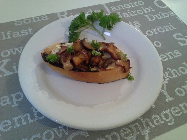 Wild mushrooms on toast - Transylvania's finest