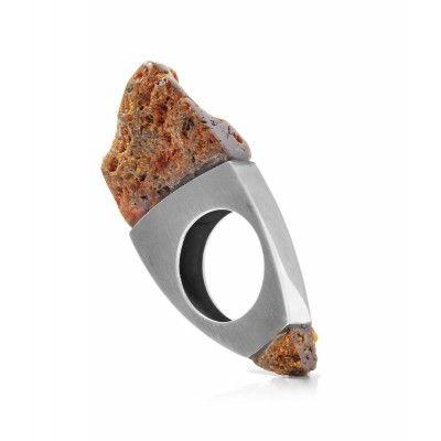 Raw Amber Ring