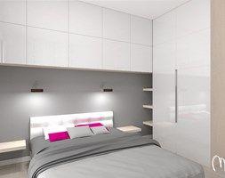 Projekt mieszkania dwupokojowego - Średnia sypialnia, styl skandynawski - zdjęcie od ML Projekt